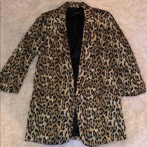 Zara Cheetah Print Blazer